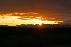 Sunset At Yellowstone National Park... (Geraldine Curtis) Tags: sunset yellowstonenationalpark wyoming