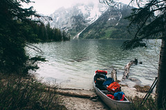 Leigh Lake x Mt. Moran (kylesipple) Tags: camping lake nature landscape jenny canoe backpacking wyoming grandtetons canoeing leigh grandtetonnationalpark jacksonlake poler jennylake leighlake campvibes polerstuff excursionpack