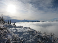 Above the clouds (magellanator) Tags: green tom fun mt hiking peak social lookout glacier janet wilderness unannounced 6500 nwhikers