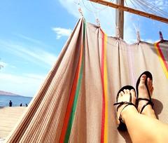 Notre auberge de jeunesse a paracas :) es la bella vida!