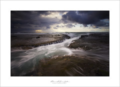 Water Flow (Maxwell Campbell) Tags: ocean seascape storm beach clouds sunrise newcastle landscape photography rocks australia nsw waterflow cowriehole hunterregion maxwellcampbell