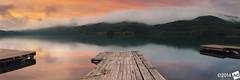 S l e e p i n g O f f S u m m e r (AnthonyGinmanPhotography) Tags: panorama lake sunrise jetty olympus panoramic nagano naganoprefecture novoflex aokiko omachi olympus1454mmf28 leefilters olympuse30
