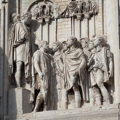 Arch of Constantine - 5 (Paul Dykes) Tags: italy sculpture rome roma italia triumphalarch basrelief archofconstantine ancientrome emperorconstantine