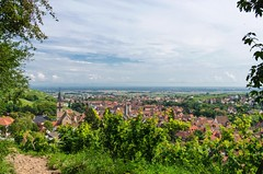 Ribeauville (de_nativo) Tags: houses sky france green beautiful clouds wonderful village view hill wide panoramic roofs alsace charming picturesque ribeauville vast expanse picturesquevillage
