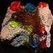 Fluorescent Trick or Treat: Rock Candy on Scoria - WL