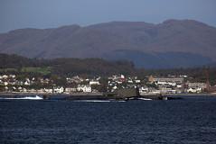 Astute Class Submarine in the Clyde (Fred J Carss) Tags: river riverclyde clyde submarine defence warship rn royalnavy astute astuteclass