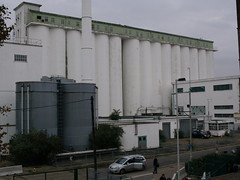 Deco Shredded Wheat 03 (FrMark) Tags: city uk england white building architecture design town office industrial factory britain wheat cereal style moderne silo gb artdeco deco derelict shredded hertfordshire herts gardencity welwyn nabisco welgar
