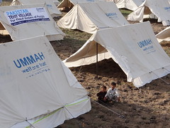 Tent Village in Punjab (Ummah Welfare Trust) Tags: poverty charity hope asia islam homeless happiness relief aid health human hunger disaster muslims activism humanitarian ngo homelessness humanitarianism