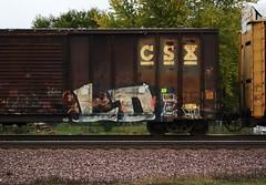 LD (quiet-silence) Tags: railroad art graffiti railcar boxcar graff lowdown freight ld csx trian jigl fr9