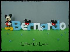 nome Bernardo Mickey (Gifts 4Ur Love) Tags: mickey porta quarto feltro bernardo menino