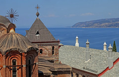 Greece, Macedonia,  Agio Oros, Dochiariou greek orthodox monastery (10th century), 16-ray crosses in the form of macedonian star (Macedonia Travel & News) Tags: macedonia ancient culture vergina sun thessaloniki athos chalkidiki monastery orthodox republic nato eu fifa uefa un fiba greecemacedonia macedonianstar verginasun aegeansea mavrovo macedoniablog 649617427 macedoniagreece makedonia timeless macedonian macédoine mazedonien μακεδονια македонија travel prilep tetovo bitola kumanovo veles gostivar strumica stip struga negotino kavadarsi gevgelija skopje debar matka ohrid heraclea lyncestis macedoniatimeless tourism tourisminmacedonia