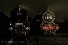 3P20 night shoot 17/10/14 (Matt.Evans44871) Tags: autumn bury streak great fast railway steam lancashire east sir a4 nigel elr gala k4 marquees the lner no7 gresley 60007
