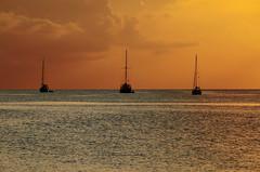 3/3 (Juan Diego Rivas) Tags: ocean blue sunset sea orange 3 azul atardecer three boat mar colombia barco providence tres naranja providencia sanandres sanandresyprovidencia