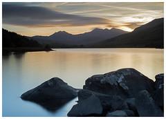 Evening - Lakeside (Otis335) Tags: uk mountains colour landscape evening lakes snowdonia northwales longexposue bigstopper