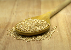 Q is for,,, Quinoa (Helen Mulvey) Tags: quinoa woodenspoon