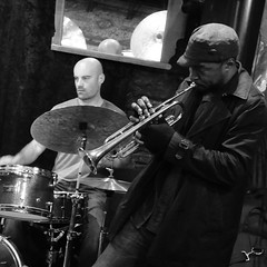 DSC02838 (foto5) Tags: nyc newyorkcity blackandwhite bw musician music usa newyork club manhattan basement arts westvillage jazz player entertainment midnight instrument africanamerican drummer brass saxophone greenwichvillage smalls tenor 2014 staceydillard sonyrx100