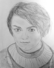 Sketch - Arya (sunlitnights) Tags: portrait art sketch wolf drawing arya draw stark wolfgirl direwolf winterfell aryastark