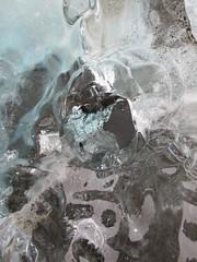 A hole (martaxtina) Tags: blue abstract texture ice reflections iceland sand hole translucent iceberg jkulsarlon