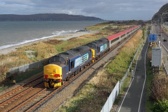 37682+37419 Dwygyfylchi 25th October 2014 (John Eyres) Tags: set trains holy virgin farewell 37 penmaenmawr charter holyhead 37419 37682 wb64
