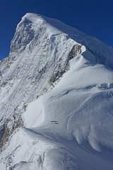 2014-10-02 (04) Satopanth summit from above camp2 @~6100m (steynard) Tags: india expedition mountaineering himalaya