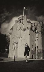 (roger g1) Tags: autumn blackandwhite castle beauty model friend aberdeenshire jura banchory crathes