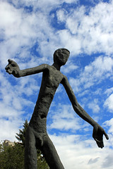 With Open Arms (JB by the Sea) Tags: sculpture canada calgary statue alberta publicart familyofman marioarmengol armengolstatues brotherhoodofmankind september2014 armengolsculptures
