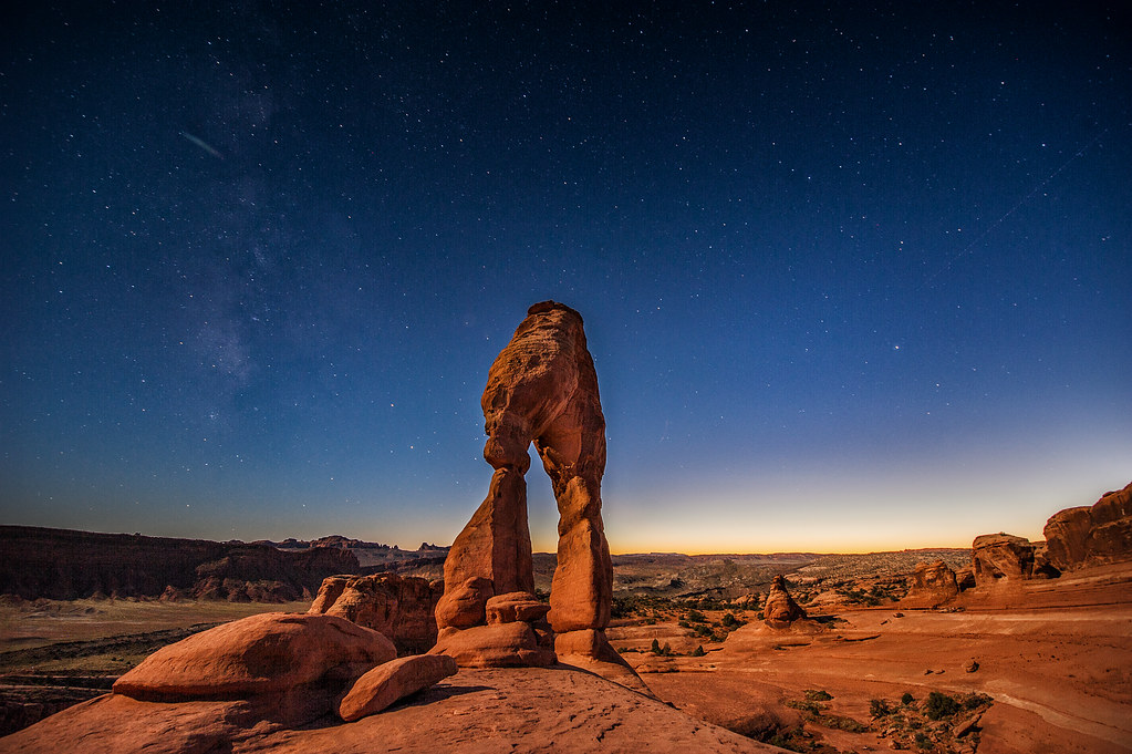 Delicate arch, as featured on the Utah license plate, is definitely worth the visit to Moab alone.