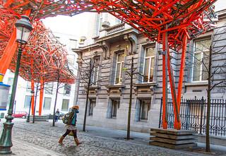 Bruxelles - Rue de Louvain - Instalaltion Arne Quinze