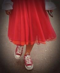 Life is ... (Grazissima) Tags: red sneakers converse crete allstars converseallstars cretegreece iphone5 iphoneography grazissima