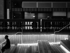 Waiting (new York, USA. Gustavo Thomas  2014) (Gustavo Thomas) Tags: life city urban blackandwhite bw usa newyork man blancoynegro monochrome night lights noche us nightlights vida wait nightlife soir nuit espera notte bnw hombre biancoenero highline blancetnoir monocromtico usagustavothomas2014