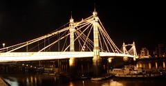 Albert bridge, Chelsea...London, UK. (petegatehouse) Tags: london river chelsea darkness bridges illuminated nighttime albertbridge thethames chelseaembankment