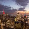Manhattan Spires (Mike McLaughlin Photo) Tags: newyork newyorkcity manhattan skyline skyscraper cityscape night dusk twilight sunset empirestate bankofamericatower condenastbuilding hm worldtradecenter topoftherock gracebuilding