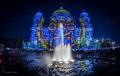 Berlin Festival of Lights: Berliner Dom (V. Koeditz) Tags: berlin fisheye 8mm berlinerdom pentaxk30