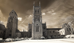 Bryn Athyn Cathedral (Cocoabiscuit) Tags: ir infrared brynathyn d300 newchurch cocoabiscuit 55105mm