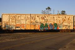 NBD (BombTrains) Tags: road railroad art train bench graffiti paint tag graf rail spray graff freight fr8 nbd trox 1522 benching