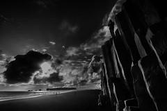 Reynisdrangar (G.V Photographie) Tags: sea blackandwhite seascape beach monochrome landscape iceland sand nikon rocks noiretblanc sable monochrom paysage plage basalt rochers islande reynisdrangar paysagemarin basalte orguesbasaltiques vanguardtripod nikond7000 nikkor122414ged rochesbasaltiques