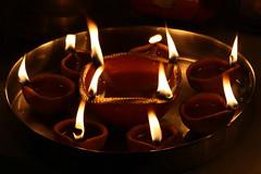Earthen Lamps At Diwali Prayers (personne.de.chandigarh) Tags: festival ritual diwali earthenlamps canonefs55250mmf456is canoneos1000d