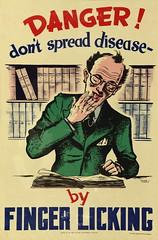 Health Poster 'Danger don't spread disease'