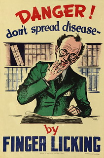 Health Poster 'Danger don't spread disease'