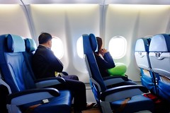 Body language tells a lot about a person's emotions (unlawyer) Tags: bodylanguage airbusa330 airplanecabin economyclass