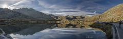 Gotthard Pass Sunset (Lollo Riva) Tags: panorama reflection mirror switzerland ticino riva pass svizzera riflessi uri specchio lollo passo gotthard gottardo leventina
