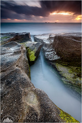 lost in a moment (Maciek Gornisiewicz) Tags: ocean longexposure sunset seascape beach clouds canon landscape photography evening coast moss rocks dusk indian tripod australia burns filter shore perth western maciek 2014 1635mm darkelf 5dii gornisiewicz