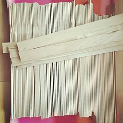 There was a moment last week when I couldn't find any wooden paint stirrers... #maderemade @diynetwork