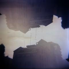 [La Mia Citt] (Urca) Tags: 120 6x6 mediumformat holga lomo italia doubleexposure milano squareformat multiexposure doppiaesposizione 2014 analogico 111112014003