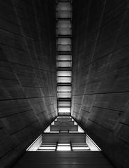 St. Mary's Cathedral (schromann) Tags: roof church window st japan wall concrete tokyo catholic interior kirche architect marys expressionist beton kenzo brut architekt tange fensterband 201409japan