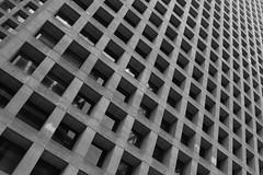 (Alberto Garlaschelli) Tags: blackandwhite bw canada abstract building architecture vancouver downtown britishcolumbia repetition infinite chessboard esthetics
