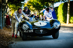 Valentine Lindsay and Harry Wyndham - 1956 Jaguar D-Type at the 2016 Goodwood Revival (Photo 1) (Dave Adams Automotive Images) Tags: 2016 9thto11th autosport car cars circuit daai daveadams daveadamsautomotiveimages grrc glover goodwood goodwoodrevival hscc historicsportscarclub iamnikon lavant motorrace motorracing motorsport nikkor nikon period racing revival september sussex track vscc vintage vintagesportscarclub davedaaicouk wwwdaaicouk valentinelindsay harrywyndham 1956jaguardtype 1956 jaguar dtype asj329