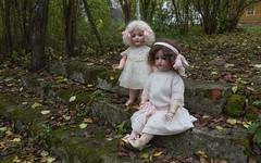 The photo of the dolls in the autumn Park (Oleg.A) Tags: chembar autumn penzaregion russia dolls twilight bahrandproschild belinsky park evening villiage kammerreinhardt doll belinskiy penzenskayaoblast ru