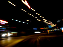 Intoxicated (Civilis Brutus) Tags: longexposure longexpo contrast street car lights traffic night nikon p7800 road weg verkeer nacht lighttrails lichten