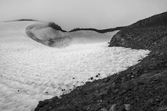 Teardrop Pool (Tom Fenske Photography) Tags: oregon nature wilderness southsister summit mountain water snow bw mono outdoors volcano